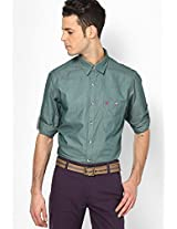Green Casual Shirt (Trim Fit) John Players