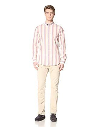 Ben Sherman Men's Long Sleeve Clerkenwell Collar Shirt (Bleached Red)