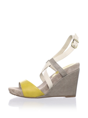 Chocolat Blu Women's Sunny Wedge Sandal (Yellow)