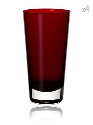 Villeroy & Boch Longdrinkglas Colour Concept 4 Stk. (rot)