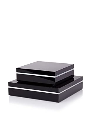 Mili Designs Two-Tone Storage Box Set (Black/White)