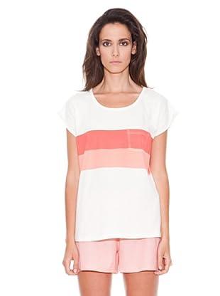 Women secret Camiseta Mc Pleasent Ville (Rosa / Blanco)