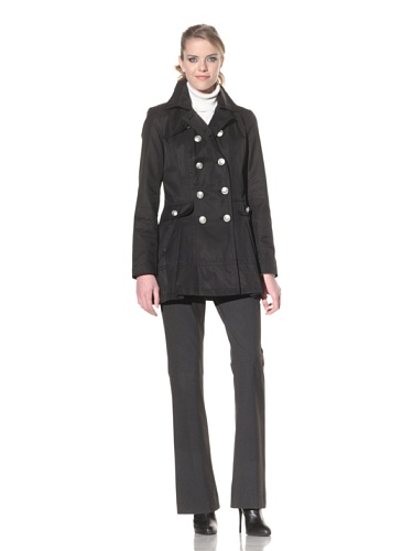 Laundry by Shelli Segal Women's Double Breasted Jacket (Black)