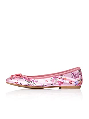Bisue Bailarinas Brillo Flores (Rosa)