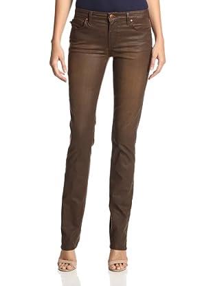 Agave Women's Athena Curvy Coated Straight Jean (Durango)