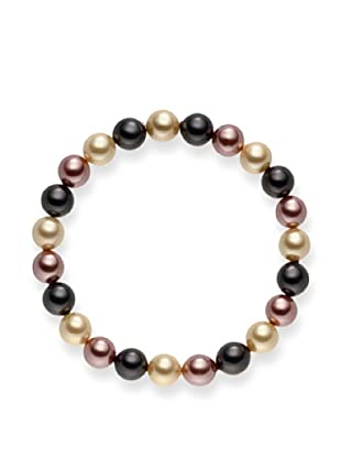 Pearls of London Armband  dunkelgrau/elfenbein/hellbraun