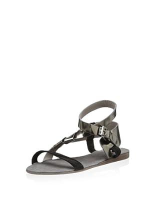 Surface to Air Women's Saga Brut V1 Sandal (Silver/Zebra Black)