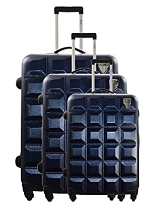 Geographical Norway Set Trolley Scratch (Azul)