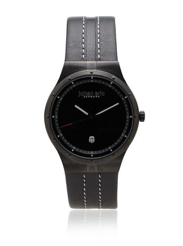 Johan Eric Men's JE3004-13-007 Skive Black Leather Watch