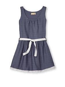 Lunchbox Girl's Denim Dress (Vintage Wash)