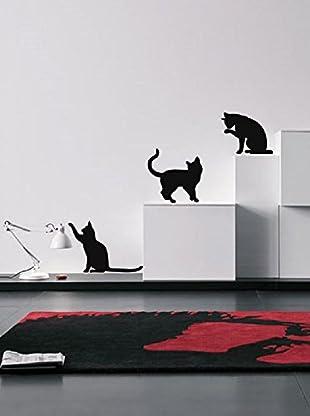 Ambiance Sticker Wandtattoo Three Funny Cats