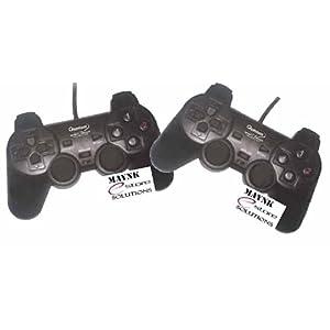 2 Pcs Quantum Gamepad Vibration PC Games USB Game Pad Joystick Dual Shock