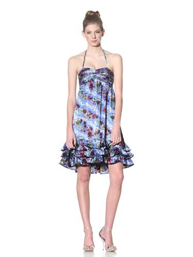 Betsey Johnson Women's Hawaiian Floral Dress (Blue)
