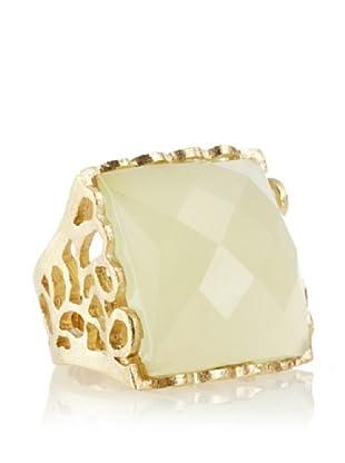 Rivka Friedman Square New Jade 18K Gold-Plated Ring