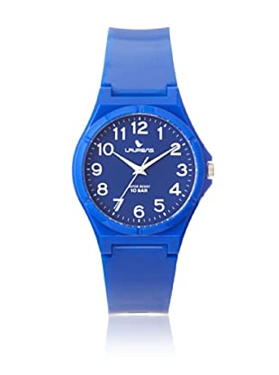 Laurens VQ88J906Y Blue Rubber Water Resistant Watch