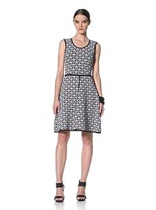 Yigal Azrouel Women's Sleeveless Knit Dress (Optic/Jet)