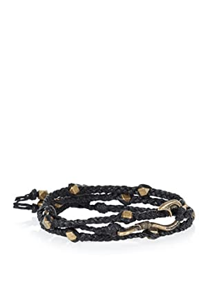 Ettika Men's Black Fisherman's Hook Wrap Bracelet