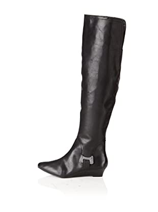 Calvin Klein Jeans Women's Falyn Knee-High Boot (Black Leather)