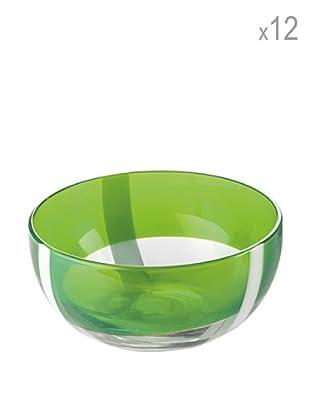 Guzzini Set 12 Coppette Gelato Table Art 2 Verde