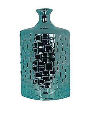Privilege Tall Ceramic Weave Vase, Turquoise