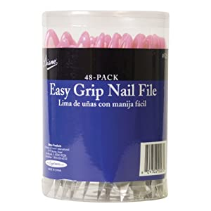 Diane Easy Grip Nail File, 48 Count