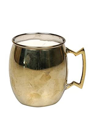 Jodhpuri 12-Oz. Driftwood Moscow Mule Mug Candle, Copper/White