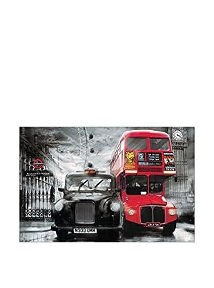 ARTOPWEB Wandbild Yanaff Taxi & Bus 115x175 cm