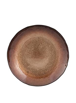 Shades Of Copper Glass Charger, Copper
