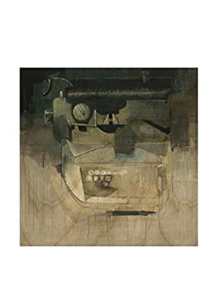 Gallery Direct David Dauncey Typewriter For Larry Artwork on Birchwood