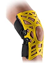 DonJoy Reaction WEB Knee Support Brace with Compression Undersleeve: Yellow, XXX-Large