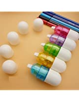 AUCH 5PCS Cute Novelty Cartoon Pill Shaped Design White-Out Correction Tape for School Kids Students