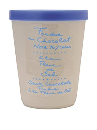 Aux Anysetiers Du Roy Dark Chocolate Fondue & Fleur De Sel in a Ceramic Jar