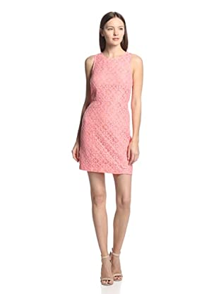 Blu39 Women's Sleeveless Lace Racerback Fit and Flare Dress (Coral)