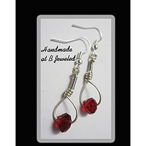 B Jeweled Crystal Wrapped Earrings