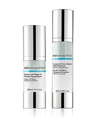 MD FORMULA  Beauty-Set 2 tlg. Caviar Lux Respair& Protect Facial Serum, Caviar Lux Firm & Boost Daily Moisturizer