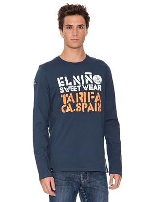 El Niño Camiseta Manga Larga Tarifa (Azul Marino)