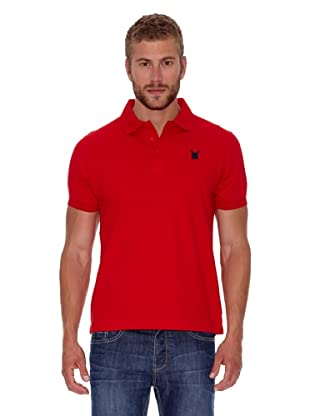 Polo Club Polo Custom Fit Escudo Liso (Rojo)