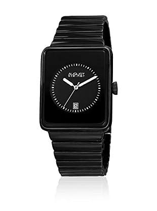 August Steiner Uhr mit japanischem Quarzuhrwerk  schwarz 38 mm