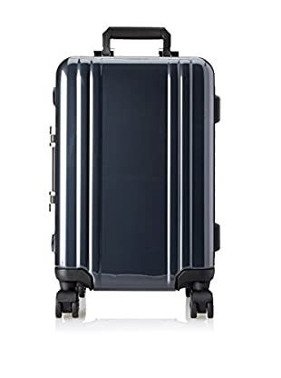 ZERO Halliburton Classic Polycarbonate Carry On 4-Wheel Spinner Travel Case, Gunmetal