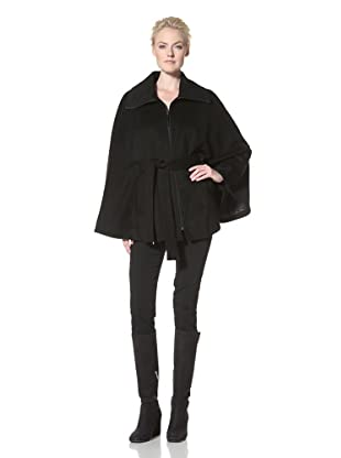 Calvin Klein Women's Belted Cape (Black)