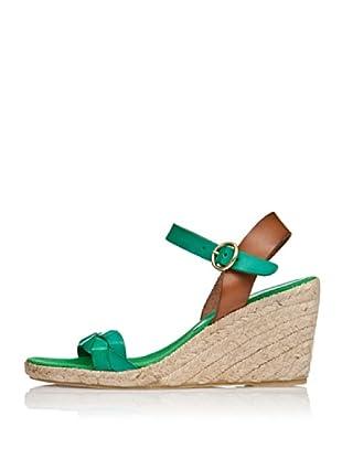 Cortefiel Keil-Sandalette Yuta (Grün)