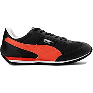 Puma Men's Speeder Tetron II Ind. Black, Orange and White Casual Sneakers - 10UK/India (44.5EU)