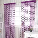 summer heart curtain-Purple