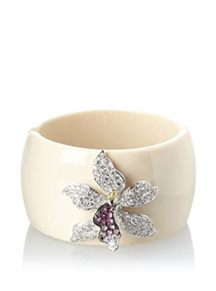 CZ by Kenneth Jay Lane Hinged Cuff with Orchid