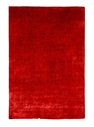 nuLOOM One-of-a-Kind Hand-Knotted Vintage Overdyed Area Rug, Red, 4' x 5' 11