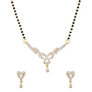 Voylla Single Chain Mangalsutra Jeweled With CZ Stones [Jewellery]