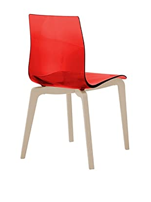 Domitalia Gel-L Chair, Transparent Red/Ash White