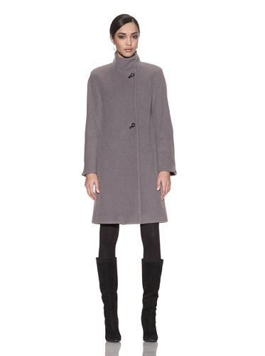 Hilary Radley Collection Women's Superfine Alpaca Coat with Stand Collar (Taupe)