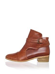 Plomo Women's Veronique Ankle Bootie with Strap (Cognac)