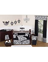 Black and White Isabella Baby Changing Pad Cover by Sweet Jojo Designs